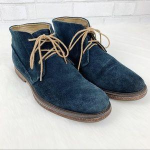 Calvin Klein Blue Suede Chukka Philip Boots 10